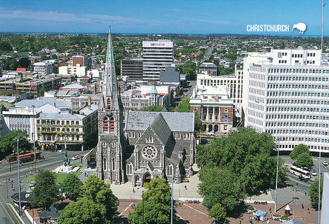 SCA326 - Cathedral Square - Small Postcard - Postcards NZ Ltd