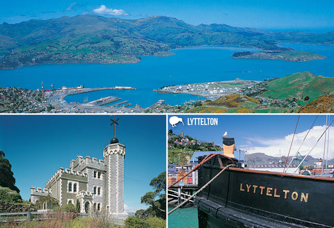 SCA330 - Lyttelton Multi - Small Postcard - Postcards NZ Ltd
