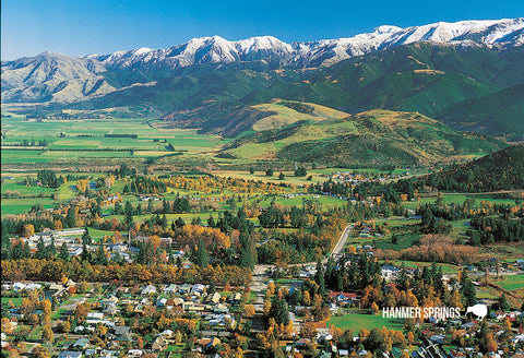 SCA626 - Aerial Hanmer Springs - Small Postcard
