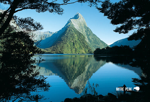 SFI57 - Mitre Peak Milford Sound - Small Postcard