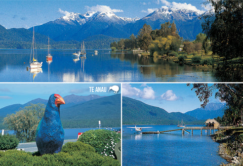 SFI62 - Te Anau Multi - Small Postcard - Postcards NZ Ltd