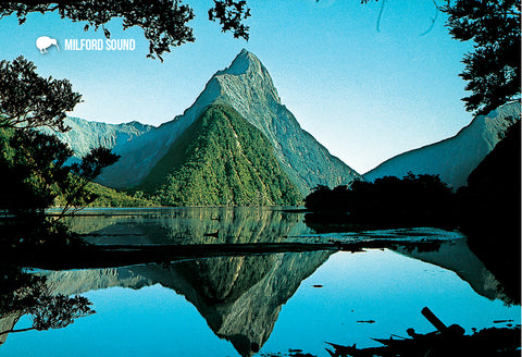 SFI76 - Mitre Peak Reflections - Small Postcard - Postcards NZ Ltd