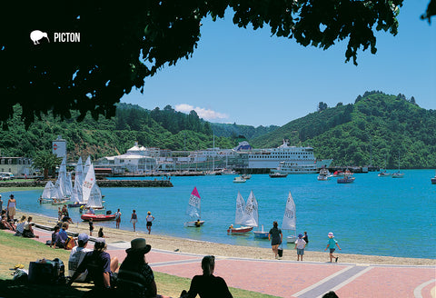 SMB659 - Picton - Small Postcard - Postcards NZ Ltd