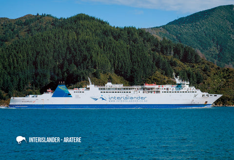 SMB660 - The Interislander, Aratere - Small Postcard - Postcards NZ Ltd