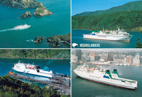 SMB662 - Interisland Ferrys - Small Postcard - Postcards NZ Ltd
