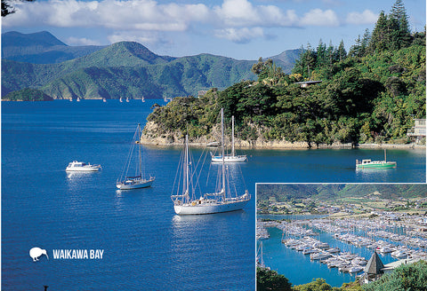 SMB665 - Waikawa Bay, Picton - Small Postcard - Postcards NZ Ltd