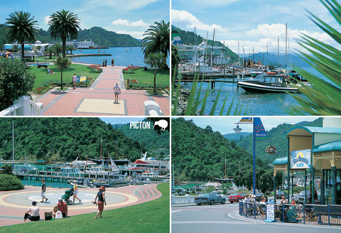 SMB666 - Picton - Small Postcard - Postcards NZ Ltd