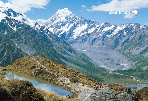 SMC344 - Mt Cook, Hooker Valley, Sealy Tarn - Small Postcar - Postcards NZ Ltd