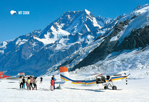 SMC349 - Ski Plane, Mt Cook - Small Postcard