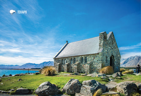 SMC357 - Church Of Good Shepard, Lake Tekapo - Small Postcard - Postcards NZ Ltd