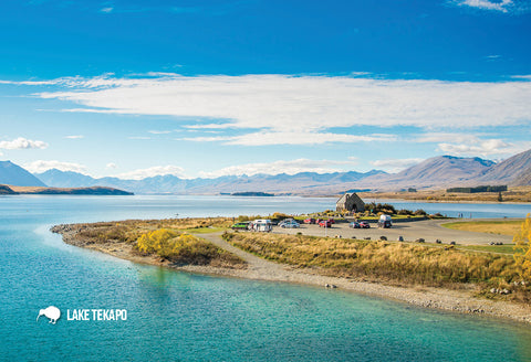 SMC360 - Lake Tekapo And Church Of Good Shepherd - Small Po - Postcards NZ Ltd