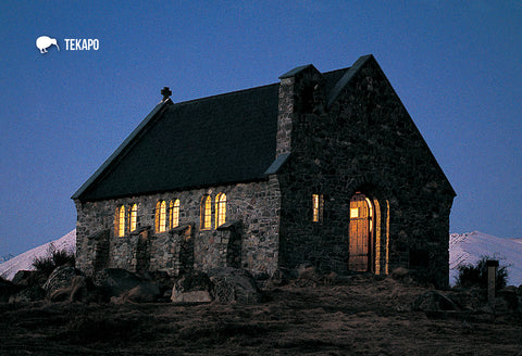 SMC363 - Church Of Good Shepherd, Lake Tekapo - Small Postc - Postcards NZ Ltd