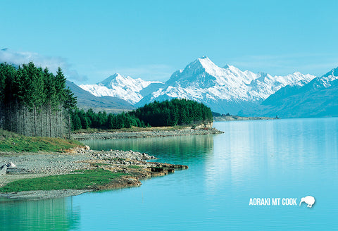 SMC370 - Mt Cook & Lake Pukaki - Small Postcard - Postcards NZ Ltd