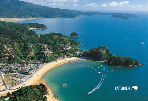 SNE740 - Kaiteriteri Aerial - Small Postcard - Postcards NZ Ltd