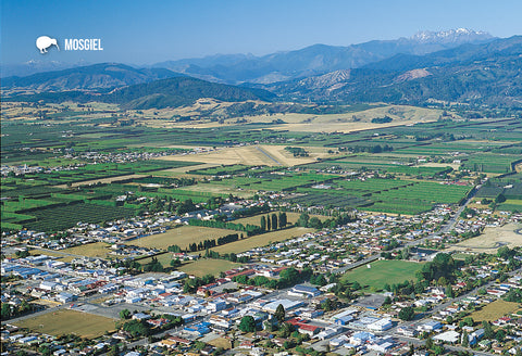 SNE741 - Motueka Aerial - Small Postcard - Postcards NZ Ltd