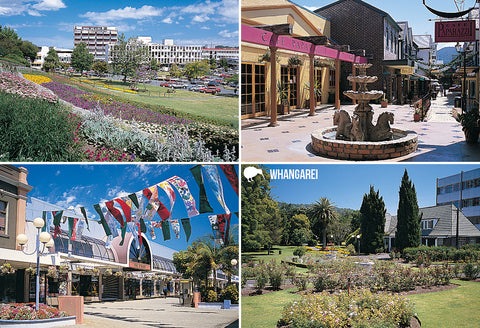 SNO712 - Whangarei Multi - Small Postcard - Postcards NZ Ltd