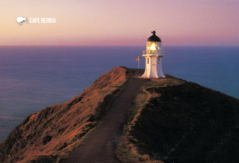 SNO782 - Cape Reinga Dusk - Small Postcard - Postcards NZ Ltd