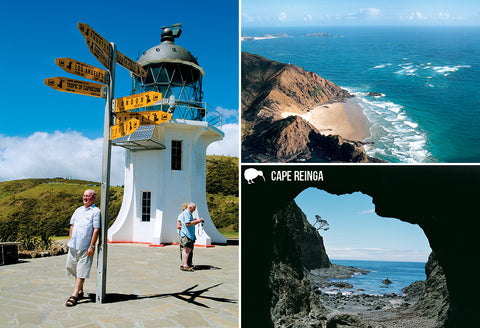SNO797 - Cape Reinga Multi - Small Postcard - Postcards NZ Ltd