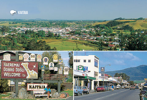 SNO799 - Kaitaia Multi - Small Postcard - Postcards NZ Ltd