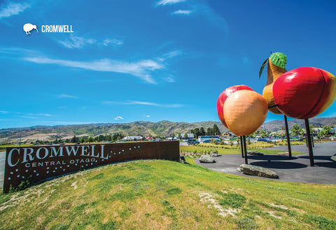 SOT384 - Fruit Monument, Cromwell - Small Postcard - Postcards NZ Ltd