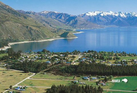 SOT401 - Lake Hawea And Hawea Township - Small Postcard - Postcards NZ Ltd