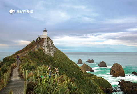 SOT457 - Nugget Point, South Otago - Small Postcard
