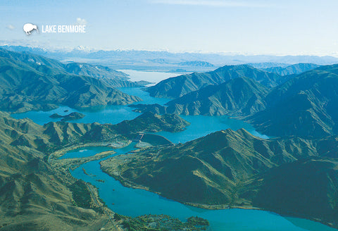 SOT763 - Lake Benmore Aerial - Small Postcard - Postcards NZ Ltd