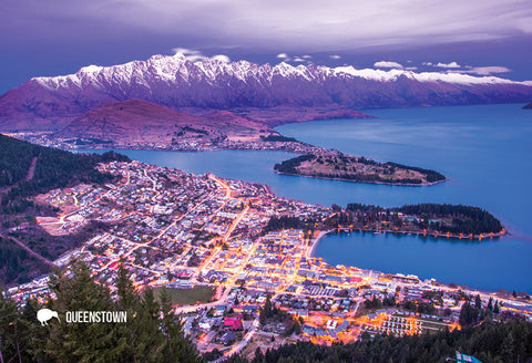 SQT809 - Queenstown From Chalet - Small Postcard - Postcards NZ Ltd