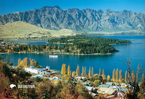 SQT821 - Queenstown & Wakatipu - Small Postcard - Postcards NZ Ltd