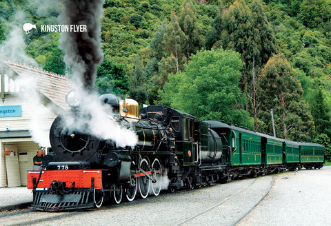 SQT823 - Kingston Flyer - Small Postcard - Postcards NZ Ltd