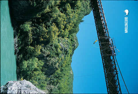 SQT833 - Bungy Jump - Small Postcard - Postcards NZ Ltd