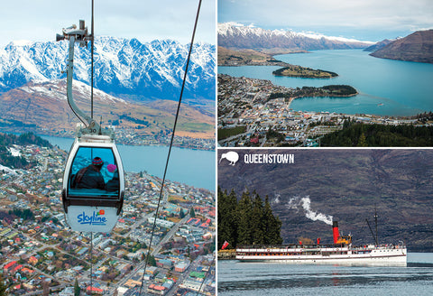 SQT845 - Queenstown Multi - Small Postcard - Postcards NZ Ltd