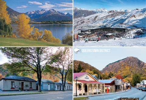 SQT846 - Queenstown District Multi - Small Postcard - Postcards NZ Ltd
