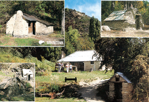 SQT852 - Arrowtown - Small Postcard - Postcards NZ Ltd