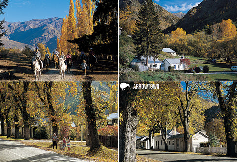 SQT853 - Autumn, Arrowtown - Small Postcard - Postcards NZ Ltd