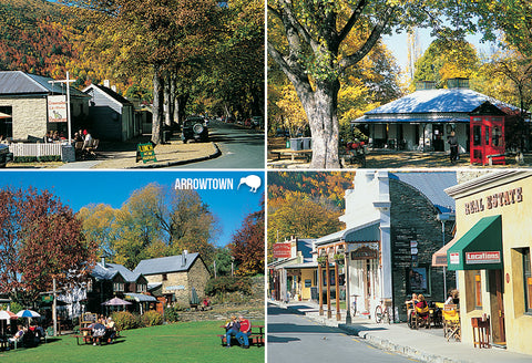 SQT854 - Arrowtown Multi - Small Postcard - Postcards NZ Ltd