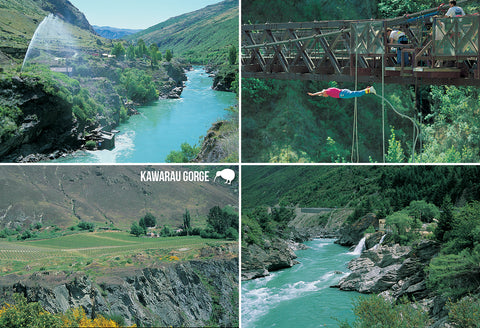 SQT858 - Kawarau Gorge - Small Postcard - Postcards NZ Ltd