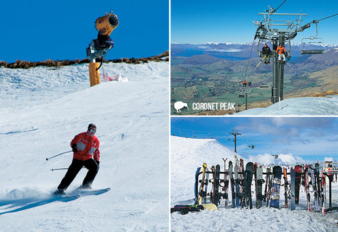 SQT861 - Coronet Peak Skifield - Small Postcard - Postcards NZ Ltd