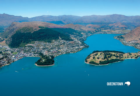 SQT91 - Aerial Queenstown - Small Postcard - Postcards NZ Ltd