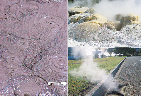 SRO231 - Boiling Mud And Steam - Small Postcard
