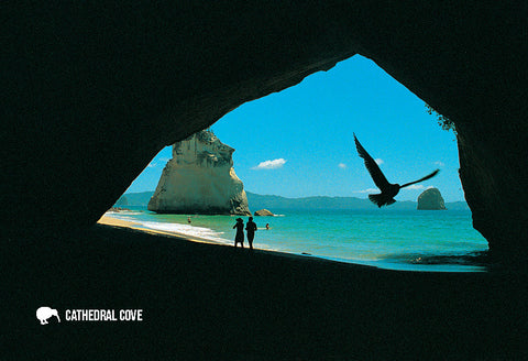 SWA549 - Cathedral Cove, Coromandel - Small Postcard - Postcards NZ Ltd