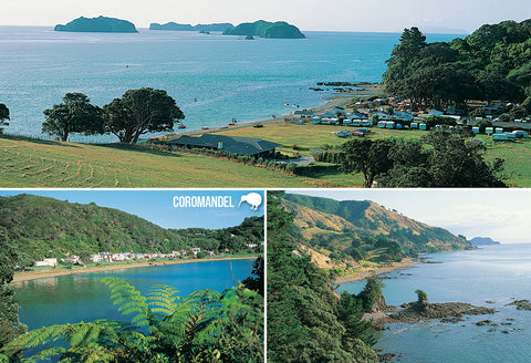 SWA561 - Coromandel Multi - Small Postcard - Postcards NZ Ltd