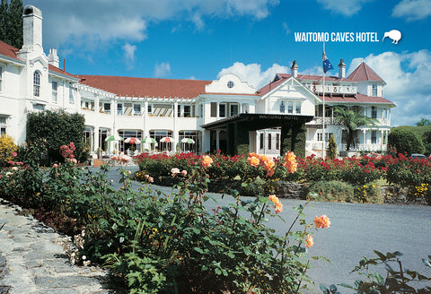 SWC959 - Waitomo Caves Hotel - Small Postcard - Postcards NZ Ltd