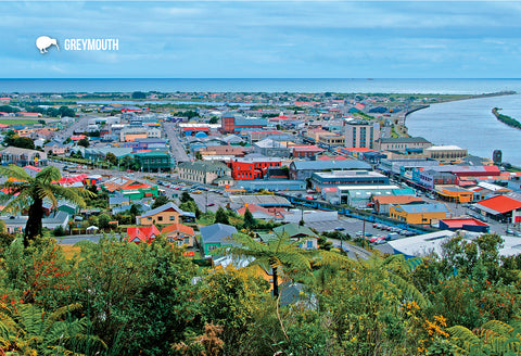 SWE1067 - Greymouth - Small Postcard