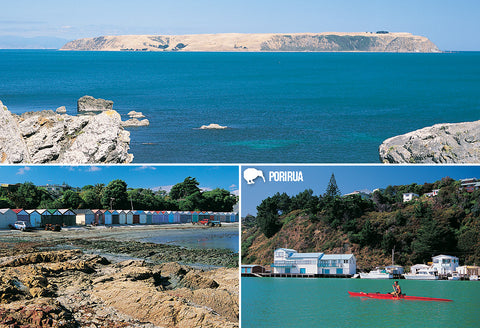SWG1008 - Porirua Multi - Small Postcard - Postcards NZ Ltd