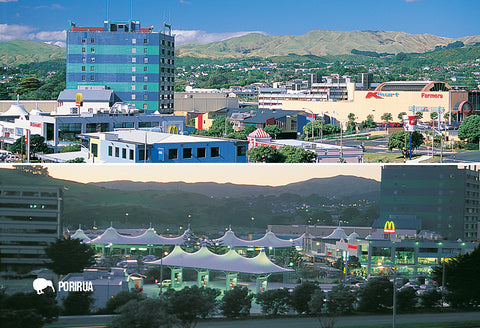 SWG1015 - Porirua City Centre - Small Postcard - Postcards NZ Ltd