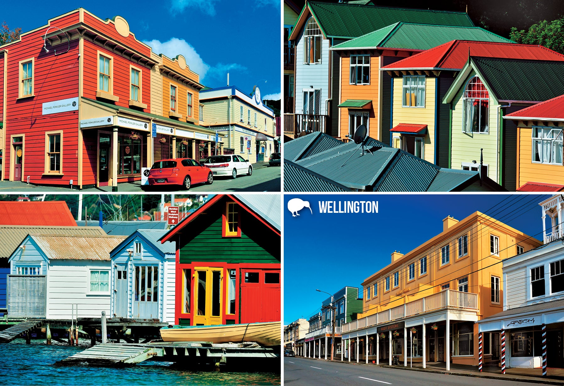 SWG1018 - Wellington Buildings of Character - Small Postcard - Postcards NZ Ltd