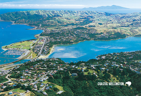 SWG984 - Porirua Harbour & Kapiti Island - Small Postcard - Postcards NZ Ltd