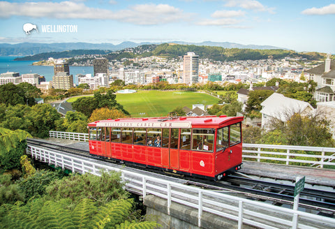 SWG994 - Wellington Cable Car With City In Back - Small Pos - Postcards NZ Ltd