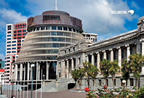SWG995 - Parliament Buildings, Wellington - Small Postcard - Postcards NZ Ltd